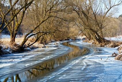Příroda, řeka a sníh