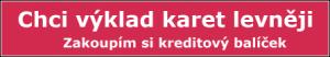 Výklad karet levněji - kreditový balíček na nakupnikartarka.cz